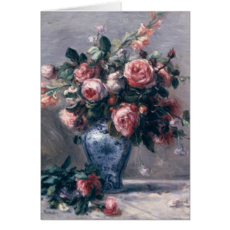 Pierre A Renoir | Vase of Roses Card