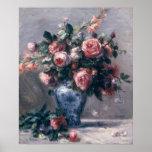 Pierre A Renoir   Vase of Roses Poster