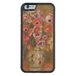 Pierre A Renoir | Vase of Tulips and Anemones Maple iPhone 6 Bumper