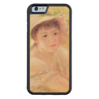 Pierre A Renoir | Woman in a Straw Hat Maple iPhone 6 Bumper Case