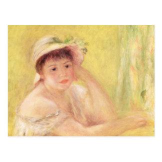 Pierre A Renoir | Woman in a Straw Hat Postcard