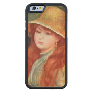 Pierre A Renoir | Young girl in a Straw Hat Maple iPhone 6 Bumper Case