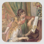 Pierre A Renoir   Young Girls at the Piano, 1892 Square Sticker