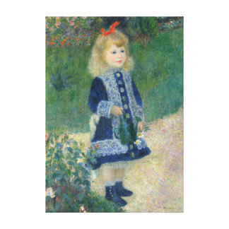 Pierre-Auguste Renoir A Girl with a Watering Can Canvas Print