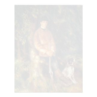 Pierre-Auguste Renoir- Alfred Berard and His Dog Letterhead Template