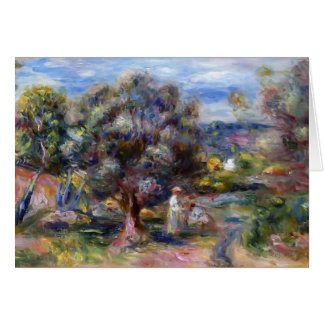 Pierre-Auguste Renoir- Aloe, Picking at Cagnes Card