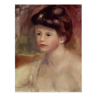 Pierre-Auguste Renoir- Bust of a Young Woman Postcard