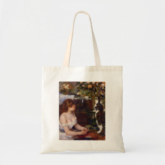 Pierre-Auguste Renoir- Girl and Cat Budget Tote Bag