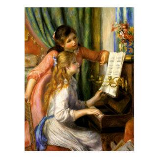 Pierre-Auguste Renoir - Jeunes Filles au Piano Postcard
