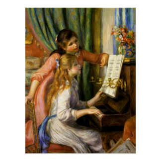 Pierre-Auguste Renoir - Jeunes Filles au Piano Poster