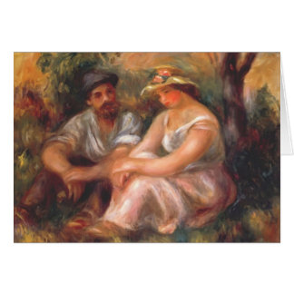 Pierre-Auguste Renoir- Seated couple Card