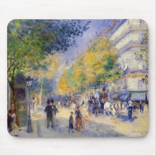Pierre-Auguste Renoir- The Great Boulevards Mouse Pads