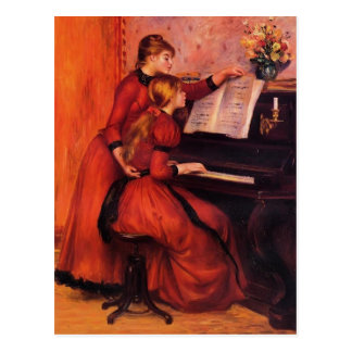 Pierre-Auguste Renoir- The Piano Lesson Postcard