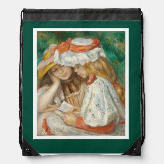 Pierre-Auguste Renoir - Two Girls Reading Cinch Bag