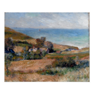 Pierre-Auguste Renoir View of the Seacoast Poster