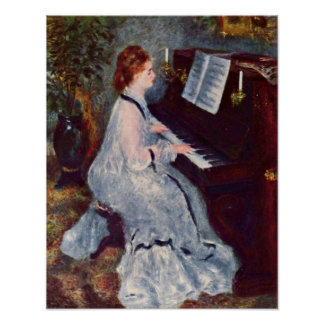 Pierre-Auguste Renoir - Woman at the Piano Poster