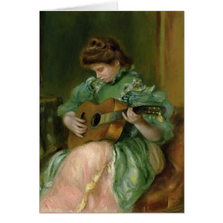 Pierre-Auguste Renoir- Woman with a Guitar Card