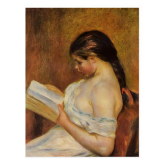 Pierre-Auguste Renoir- Young Girl Reading Postcard
