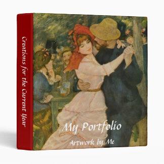 Pierre-Auguste Renoir's Dance at Bougival (1883) Vinyl Binder