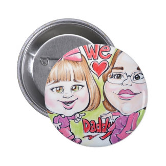 Pierre Bossier Mall Caricature Baby with Mom Pins