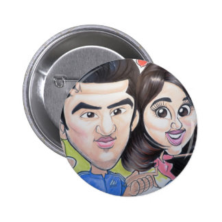 Pierre Bossier Mall Caricature November 18, 2012 Pinback Buttons
