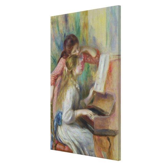 Pierre jeunes filles de Renoir un | au piano Toiles