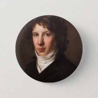 Pierre-Paul Prud'hon- Louis Antoine de Saint Just 2 Inch Round Button