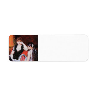 Pierre Renoir- At the Concert Box at the Opera Custom Return Address Label