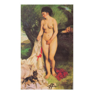 Pierre Renoir - Bather with a Terrier Poster