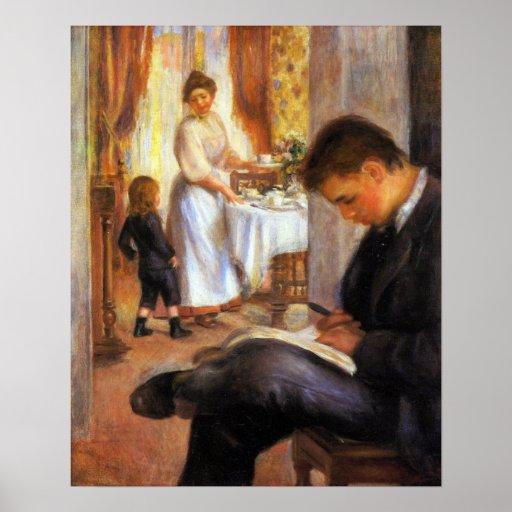 Pierre Renoir - Breakfast at Berneval Poster