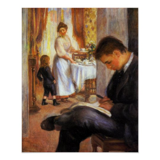 Pierre Renoir - Breakfast at Berneval Poster