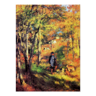 Pierre Renoir - Jules le Coeur and his dogs Poster