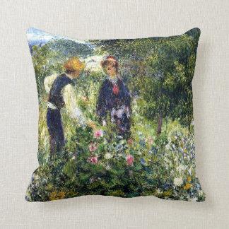 Pierre Renoir Painting, Picking Flowers Throw Pillow