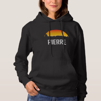 Pierre South Dakota Sunset Skyline Hoodie