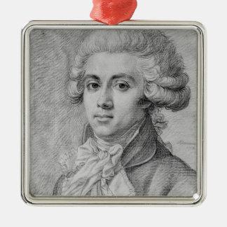 Pierre-Victurnien Vergniaud  1792 Silver-Colored Square Ornament