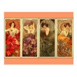 Pierres précieuses - nouveau d'art cartes postales