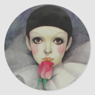 Pierrot 1980s classic round sticker