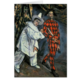 Pierrot and Harlequin , 1888 Card