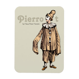 Pierrot by Hans Peter Hansen CC0176 Rectangular Photo Magnet