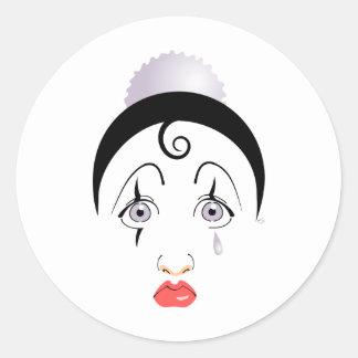 Pierrot Classic Round Sticker