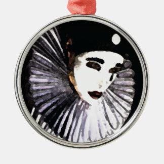 Pierrot Silver-Colored Round Ornament