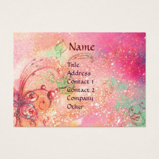 PIERROT WITH CAT / MAGIC BUTTERFLY PLANT BUSINESS CARD