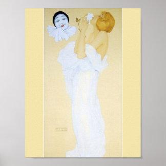 Pierrot's Dream by Raphael Kirchner Poster