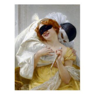 Pierrot's Embrace by Seignac Postcard
