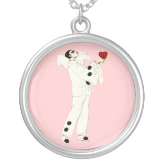 Pierrot's Love Silver Plated Necklace