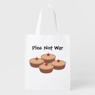 Pies Not War Reusable Grocery Bag
