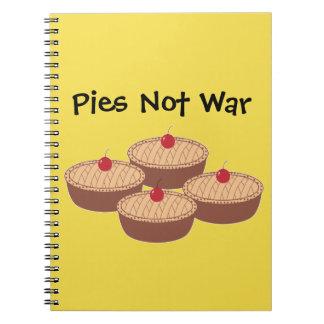 Pies Not War Spiral Notebook