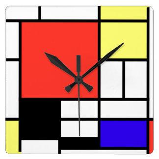 Piet Mondriaan and 1926 Composition Wallclock
