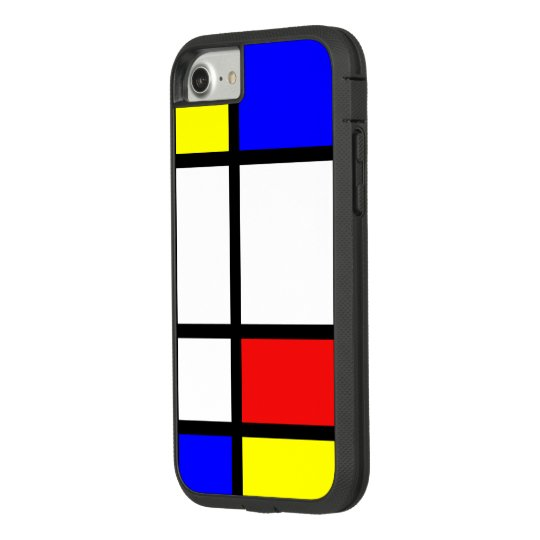Piet Mondrian Art Style Modern Bright Colours Case-Mate Tough Extreme iPhone 8/7 Case