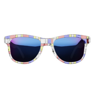Piet Mondrian Art Style Modern Pattern Elegant Sunglasses